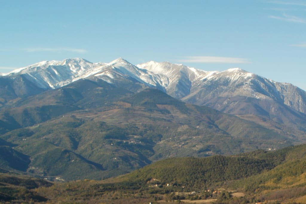 View of Pyrenean Cottages
