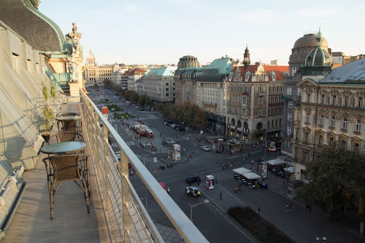 Family Apartment with Terrace on Wenceslas square