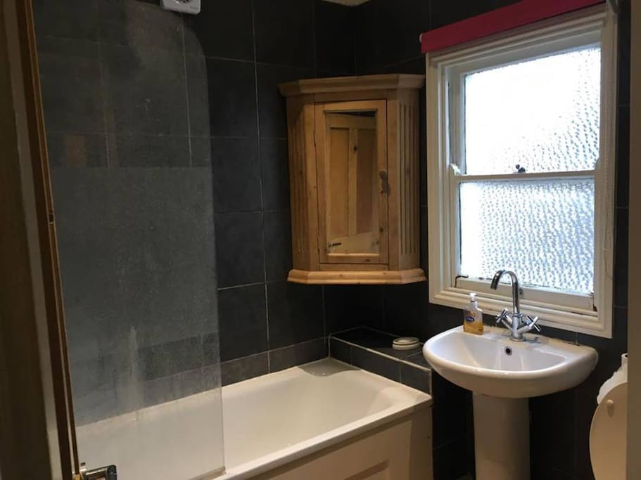 Bathroom with a shower facility
