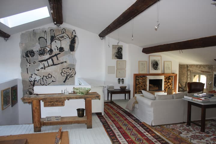 Charming, spacious apartment in old Ceret.