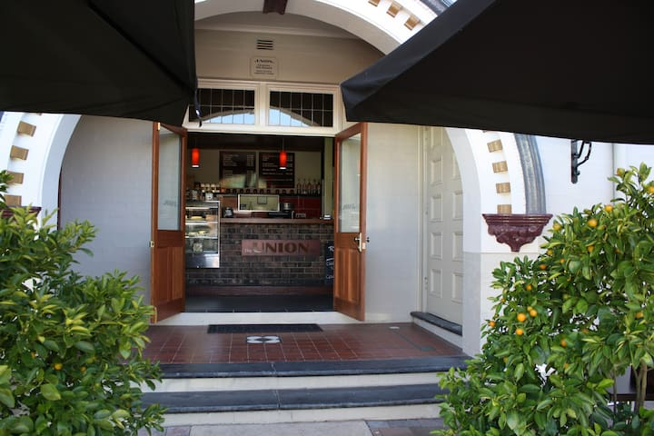 The Union bar cafe entrance.