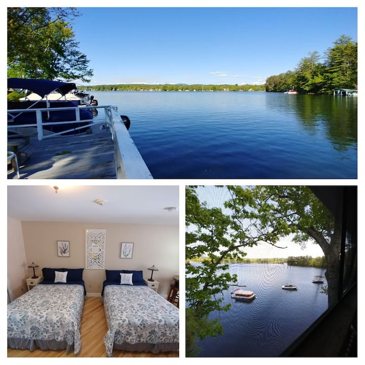Lake & Mtn views- Waterfront, 2 double beds,porch