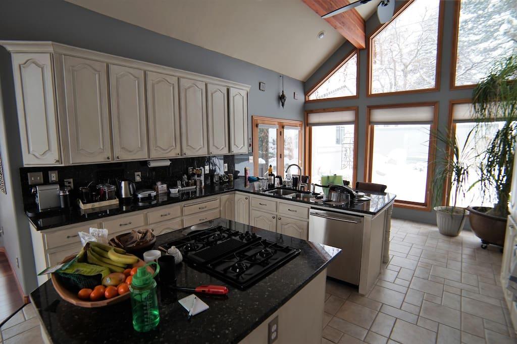 Shared kitchen upstairs