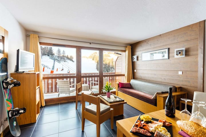 Appartement 2p. 5 pers. skis aux pieds