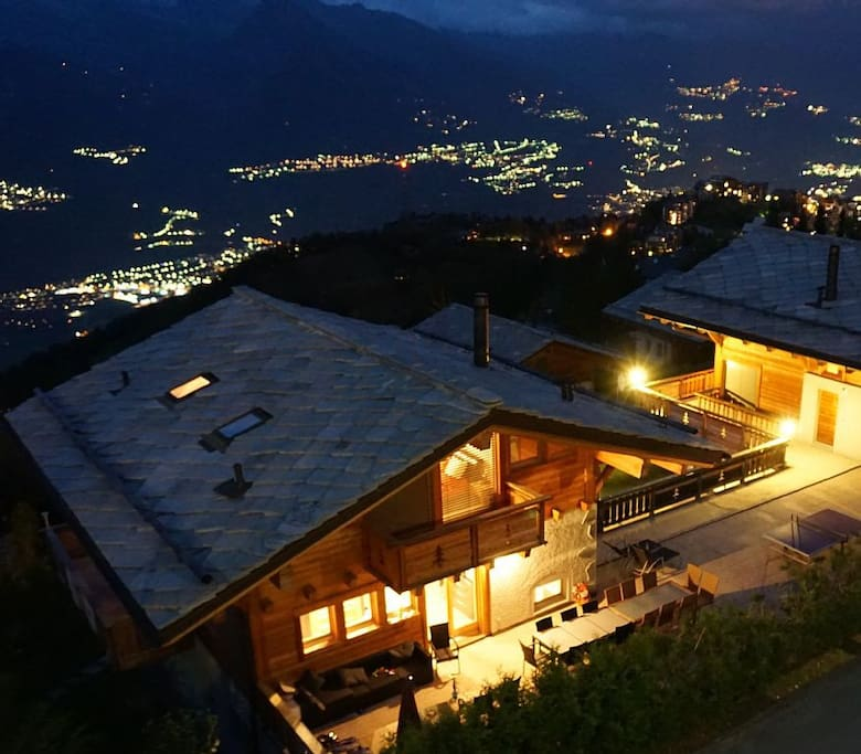 Chalet by night
