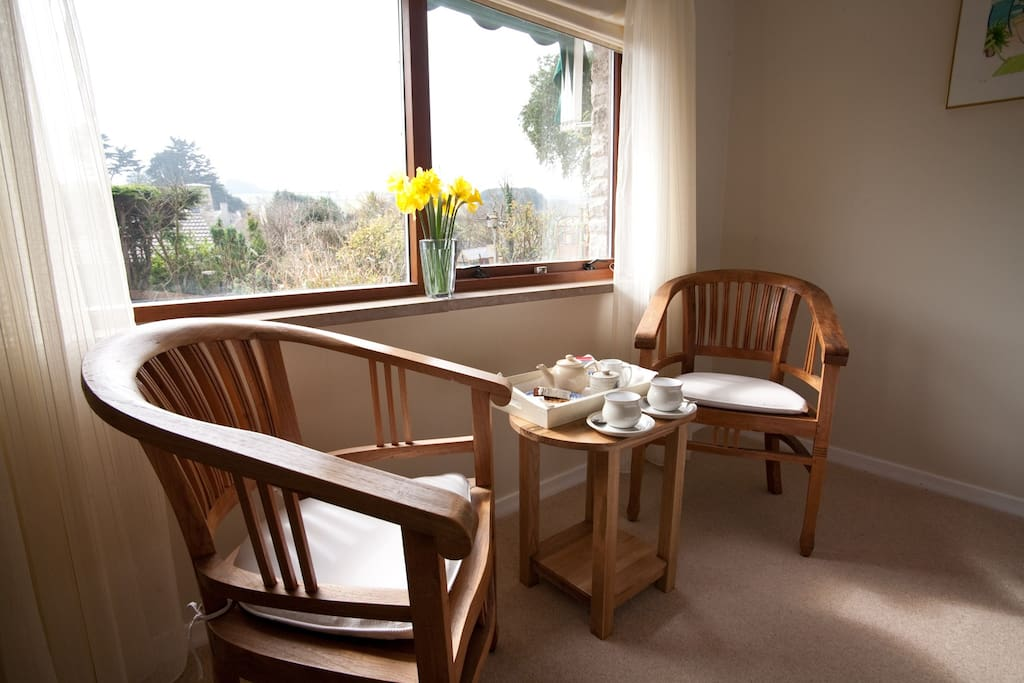 Sit by the window and admire the view of Durlston Country Park