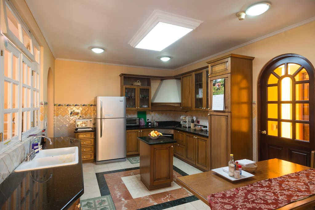 Two kitchens to cook in