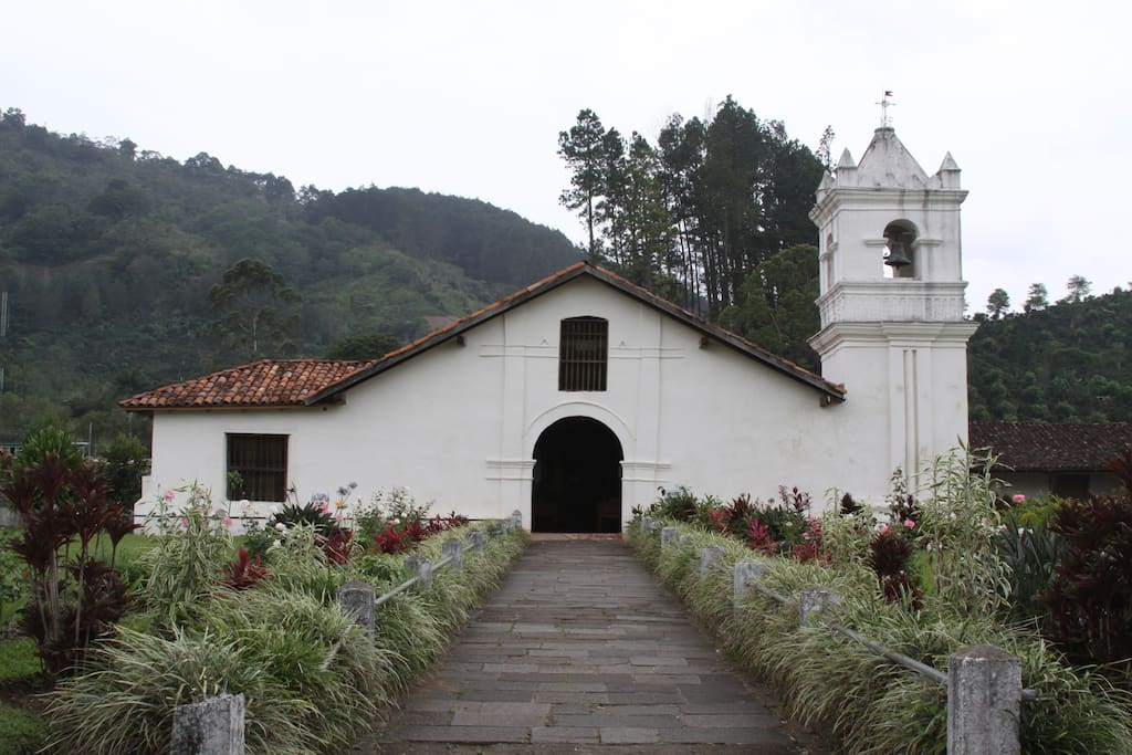 Historical Orosi church.  Part of a day trip from San Jose