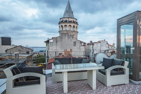 Dezenfected apartment next to Galata Tower