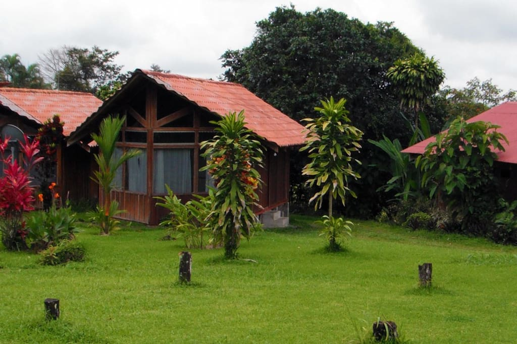 1 bedroom cabins, 1-3 people, kitchenette, private bathroom, hot water, wifi, TV and fan