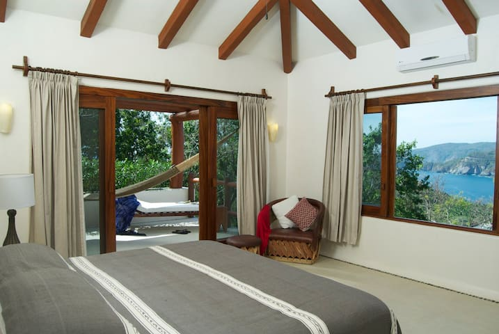 The studio has stunning views from the bedroom and private terrace