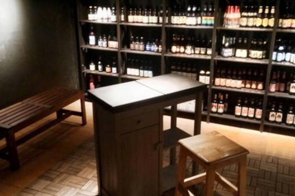 beer cellar at B1