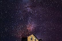 Spend time stargazing up on the hill behind the farmhouse.