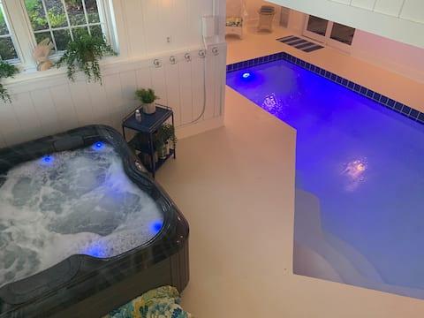 Private spa, pool, hot tub, sauna ,workout room