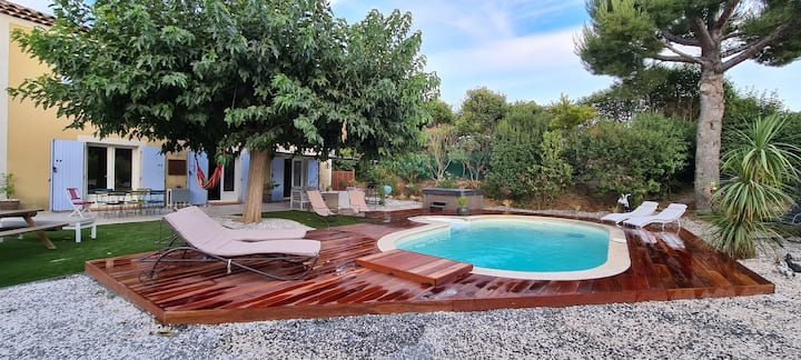 Big villa 12p with swimming pool in Cassis - Air C