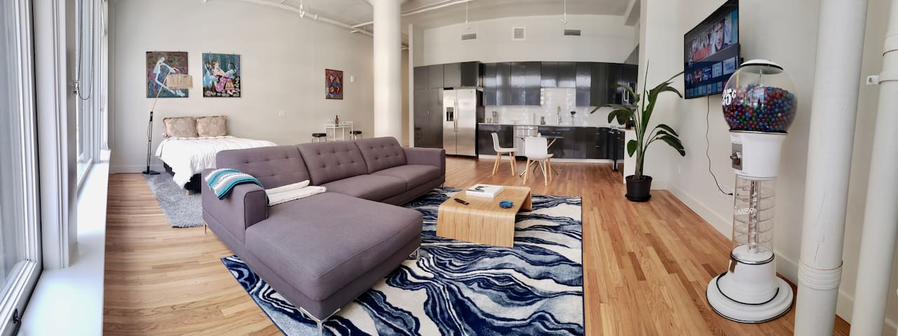 New Downtown Dallas Asian Luxe Loft + ROOFTOP