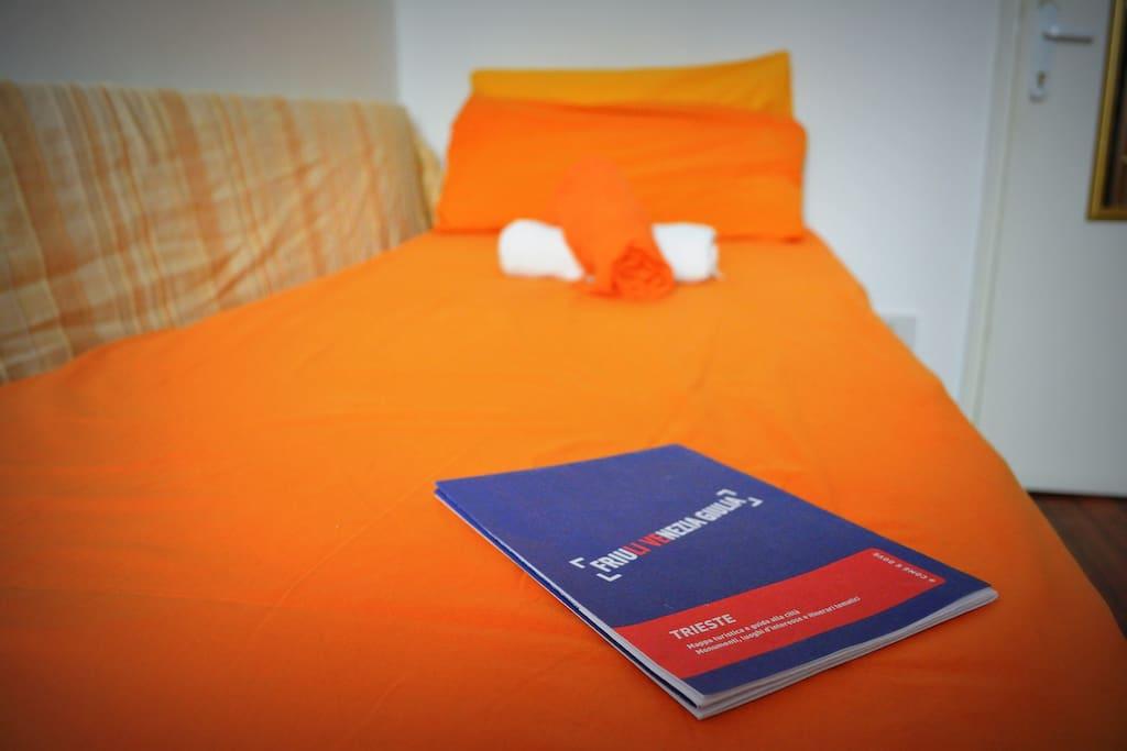 Stanza singola che può diventare anche doppia, con un materasso speciale, a zone, per dormire beatamente!
