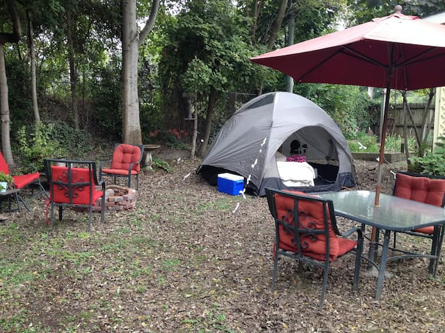 Backyard Glamping for Blues Fest!