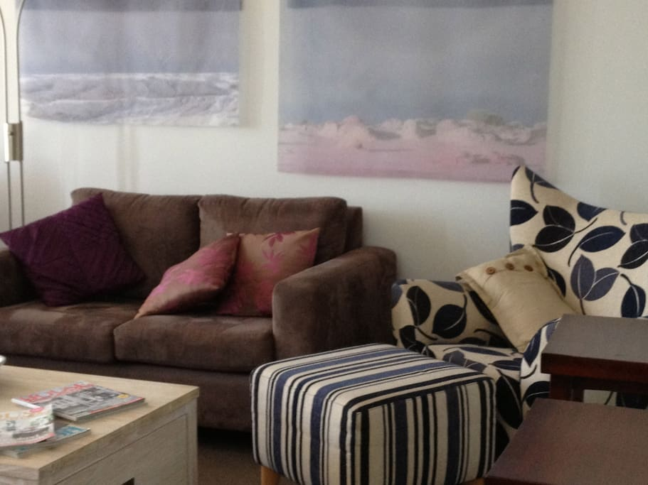Living area is very comfortable and pleasant.