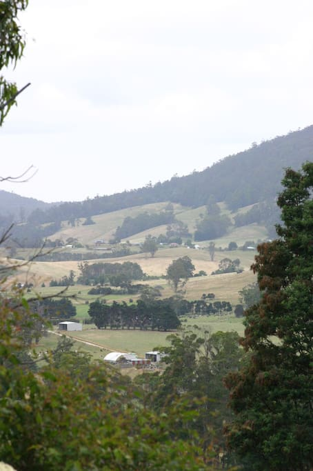 Looking from the north the valley of Lilydale showing Eagle Park.