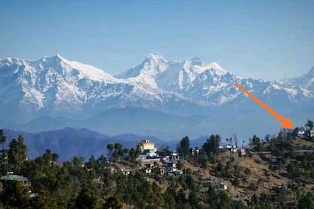 Experience Om with Majestic Himalayas at Kasardevi
