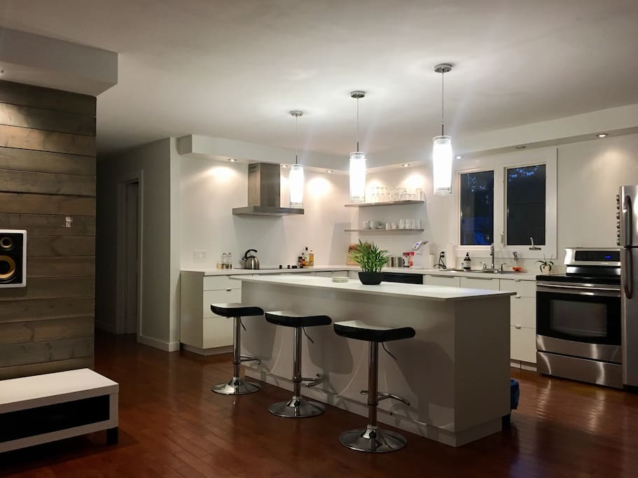 Open concept kitchen- Fully stocked