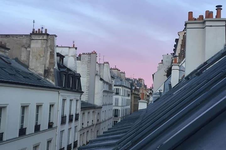 Belle chambre colorée en plein centre de Paris