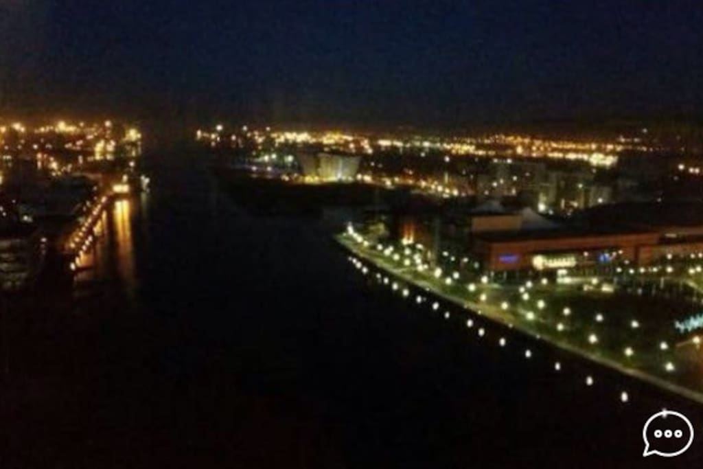 Nighttime view from the flat