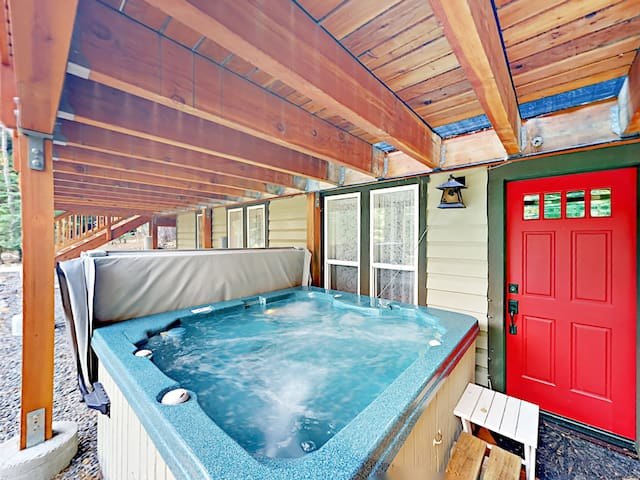 Your rental includes a private hot tub!