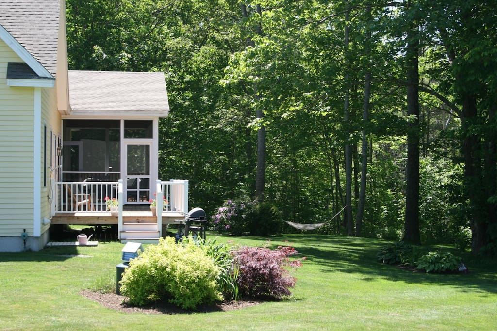 Back Yard, screened in porch and deck