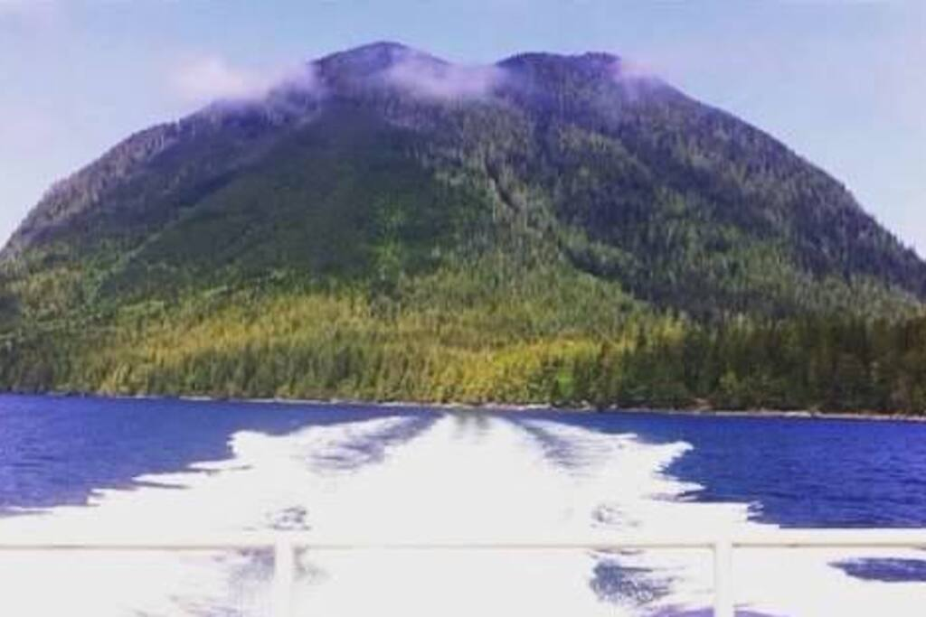 Lone Cone Mtn from the water taxi