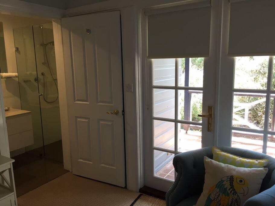 French doors opening onto verandah.