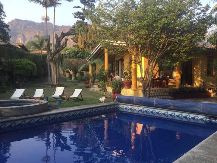 Casa Esperanza - a private garden oasis with pool.