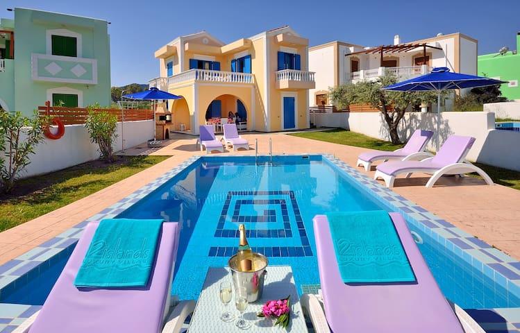 Lux 3bedroom Villa-Private Pool Kolymbia center