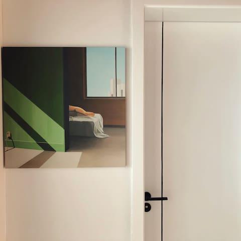 【有所民宿】Loft 里的四人间床位房/120寸超清投影/超大公区/近金牛街