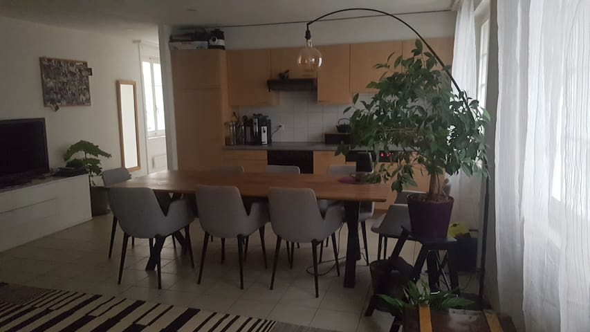 Fribourg, zone piétonne : chambre pour 1 ou 2