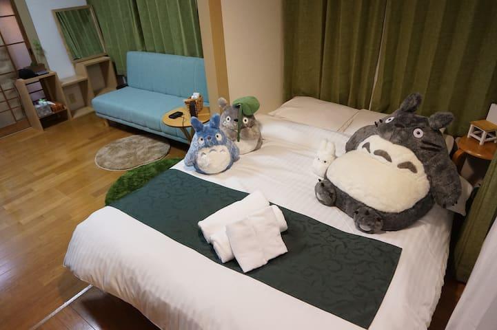 1>Totoro♪ Totoro♪ Studio Ghibli (Miyazaki Hayao) - Nishi-ku, Hiroshima-shi - Apartment