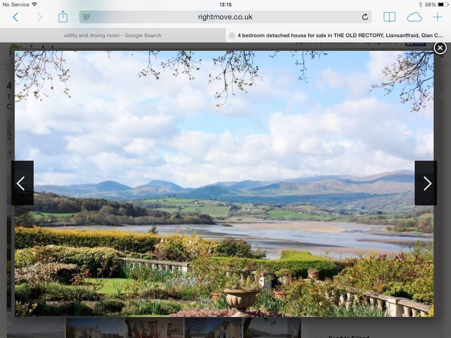 Views from the garden over Conwy Estuary