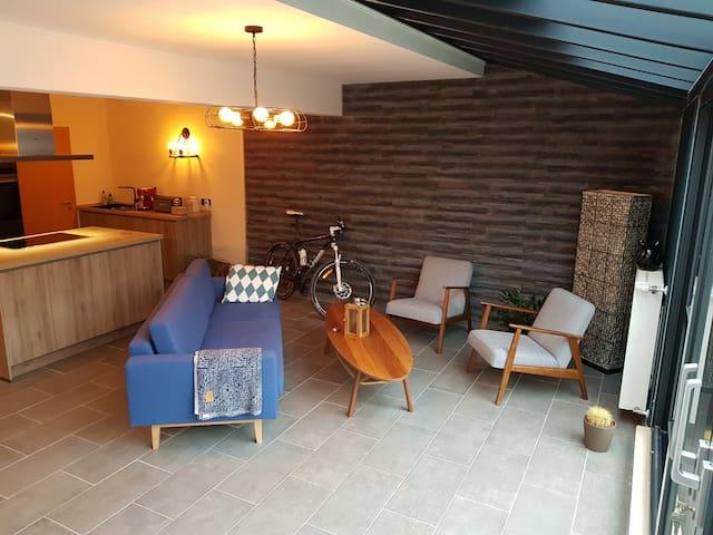 Bright apartment in a small quiet village