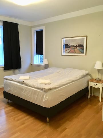 Newly renovated room in the center, free parking