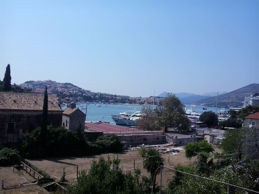 view from my property on the port of Gruž