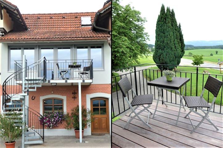 Gästehaus Reischmann, (Lindau am Bodensee), Ferienwohnung Panorama, 55 qm, 1 Schlafraum, max. 3 Personen