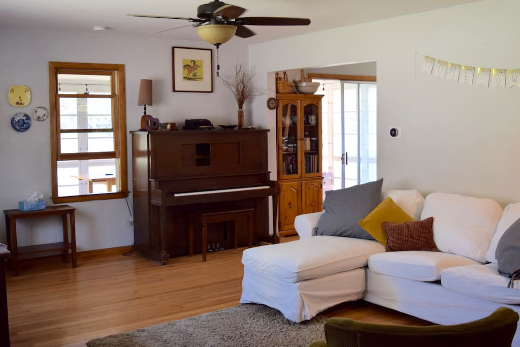 Cozy living room is great for spending time as a group.