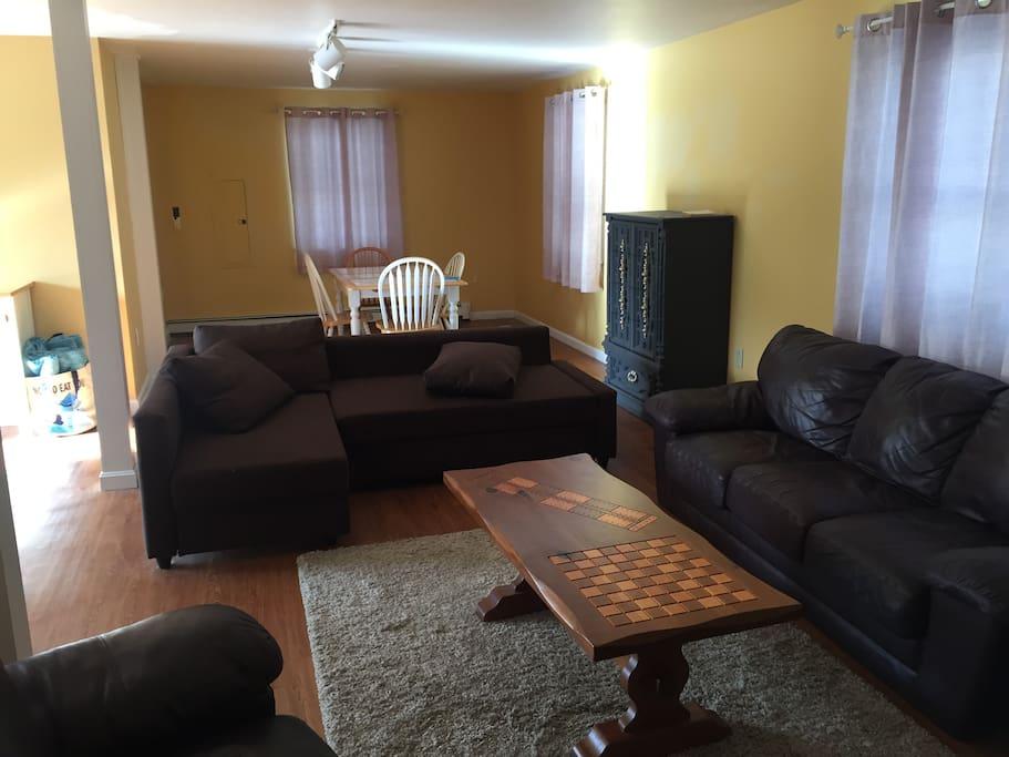 Fairly spacious lounge & sofa bed