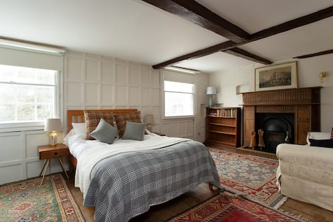 Suite of Large Rooms in Relaxed Historic Home
