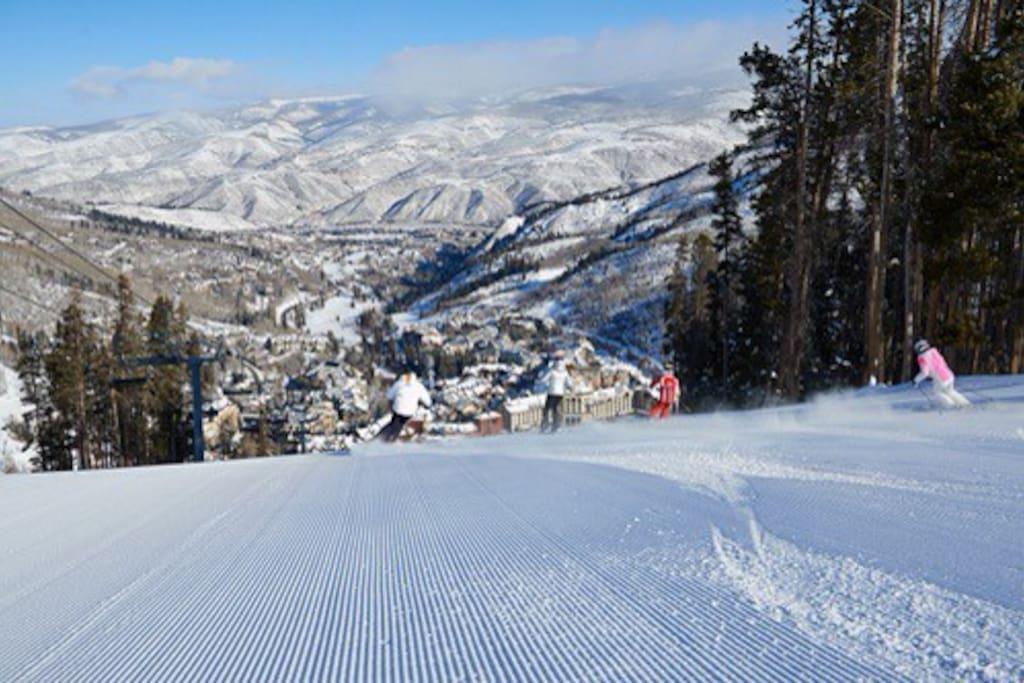 Ski Beaver Creek, Vail or drive up Vail Pass and ski Copper, Keystone, and Breck!