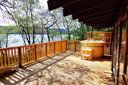 Log Cabin with Hot Tub & BBQ hut - Dalavich - Dağ Evi