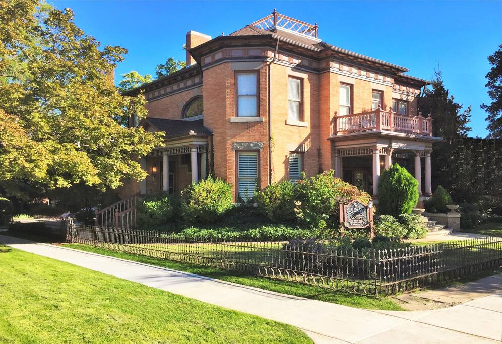Built in 1892, this home is on the National Historic Landmark Registry since it's one of the more historic buildings in Salt Lake City.