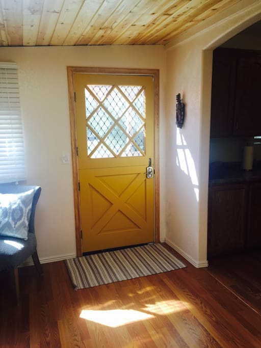 Entrance is a Dutch door.