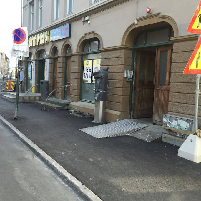 Outside entrance (right beside the grocery)